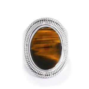 11ct Tigers Eye Sterling Silver Aryonna Ring