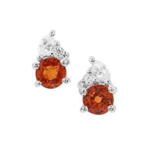 Tulelei Earrings with White Zircon in Sterling Silver 0.65cts