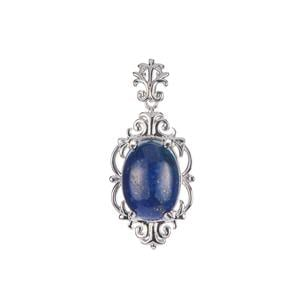 Lapis Lazuli Pendant in Sterling Silver 6.32cts