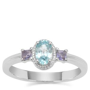 Ratanakiri Blue Zircon Ring with Iolite in Sterling Silver 0.92ct