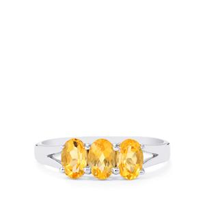 Diamantina Citrine Ring in Sterling Silver 1.42cts