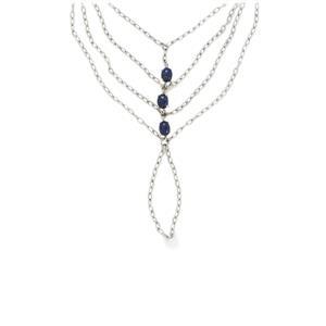 4.41ct Lapis Lazuli Sterling Silver Bracelet