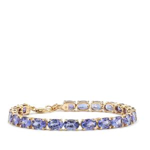 AA Tanzanite Bracelet in 10k Gold 15.74cts