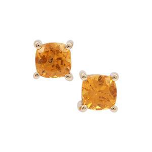 Mandarin Garnet Earrings in 9K Gold 1.44cts