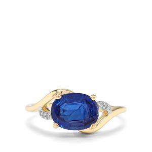 Daha Kyanite & Diamond 10K Gold Ring ATGW 2.32cts