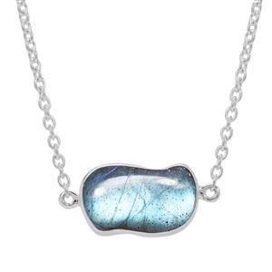 8.20ct Labradorite Sterling Silver Aryonna Necklace