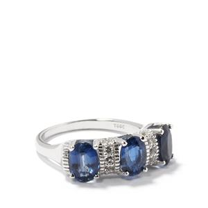 Himalayan Kyanite & White Topaz Sterling Silver Ring ATGW 3.35cts