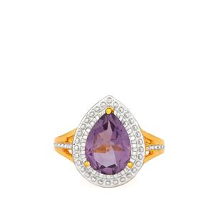 Bahia Amethyst Ring in Gold Plated Sterling Silver 2.25cts