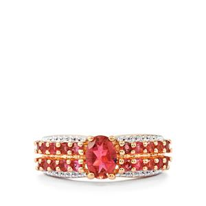 1.59ct Oyo Pink Tourmaline Rose Midas Ring
