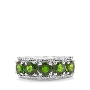 2.82ct Chrome Diopside Sterling Silver Ring