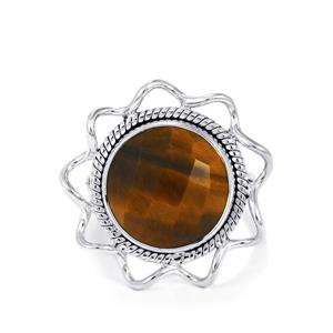 9ct Yellow Tigers Eye Sterling Silver Aryonna Ring