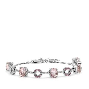 Mawi Kunzite Bracelet with Pink Sapphire in Sterling Silver 9.32cts