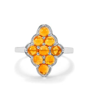 Mexican Fire Opal Ring in Sterling Silver 1.18cts