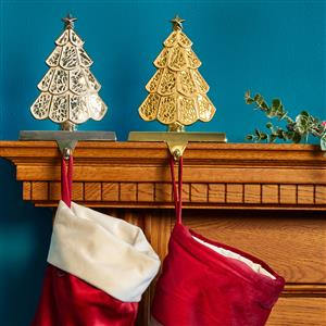 Tree Stocking Holder in Gold or Silver