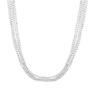"""18"""" Sterling Silver Altro Bunch Necklace 5.21g"""