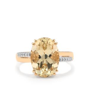 Serenite Ring with Diamond in 18K Gold 5.47cts