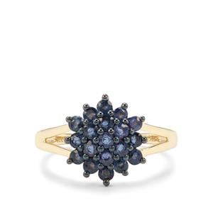 1.23ct Natural Nigerian Blue Sapphire 9K Gold Ring