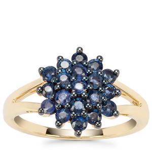 Natural Nigerian Blue Sapphire Ring in 9K Gold 1.23cts
