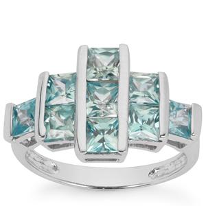 4.04ct Ratanakiri Blue Zircon Sterling Silver Ring