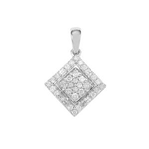 Diamond Pendant in Sterling Silver 0.50ct