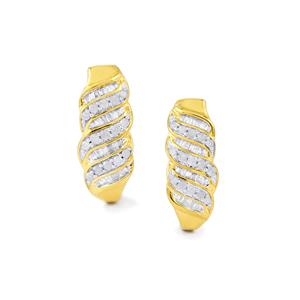 Diamond Earrings in Gold Plated Sterling Silver 0.51ct