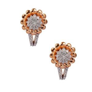 Diamond Earrings in Gold Plated Sterling Silver 0.45ct