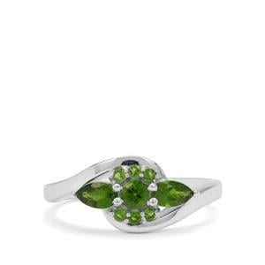 0.65ct Chrome Diopside Sterling Silver Ring