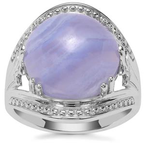 Blue Lace Agate Ring in Sterling Silver 9.66cts