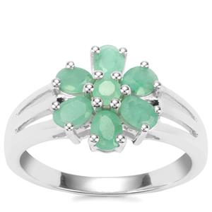 Carnaiba Brazilian Emerald Ring in Sterling Silver 1.09cts