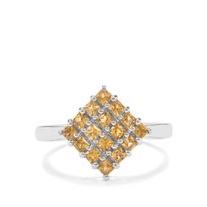 0.72ct Golden Tourmaline Sterling Silver Ring