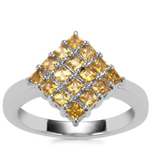 Golden Tourmaline Ring in Sterling Silver 0.72ct