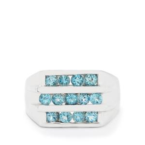 1.79ct Swiss Blue Topaz Sterling Silver Ring