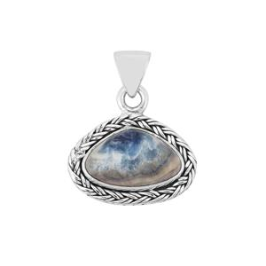 Blue Dolomite Pendant in Sterling Silver 7cts