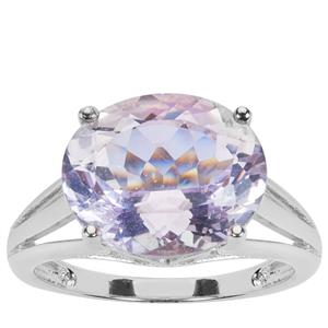 Rose De France Amethyst Ring in Sterling Silver 4.52cts