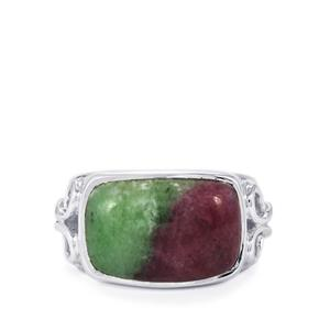 9.51ct Ruby-Zoisite Sterling Silver Aryonna Ring