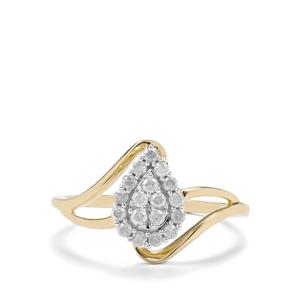 1/4ct Diamond 9K Gold Ring