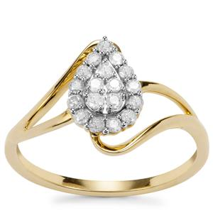Diamond Ring in 9K Gold 0.26ct