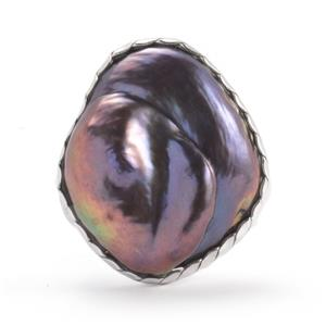 Baroque Cultured Pearl Ring in Sterling Silver (18x16mm)