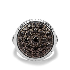 1.91ct Black Spinel Sterling Silver Ring