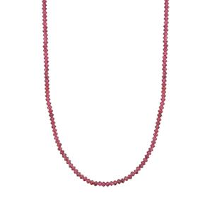 Purple Garnet Necklace in Sterling Silver 29.19cts