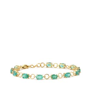 Zambian Emerald Bracelet  in 10k Gold 5.73cts