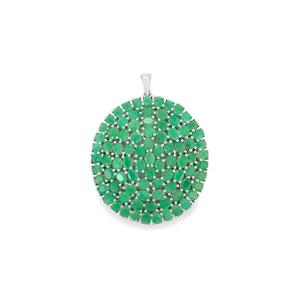 Minas Gerais Emerald Pendant in Sterling Silver 14.10cts