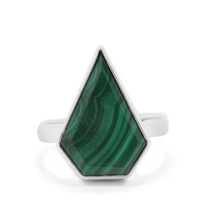 Malachite Ring in Sterling Silver 10.35cts