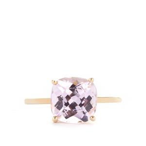 3.68ct Kunzite 9K Gold Ring