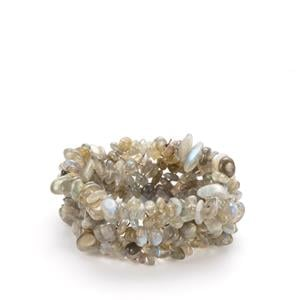316.50ct Labradorite Nugget Stretchable Bracelet
