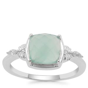 Gem Jelly Aquaprase™ Ring with White Zircon in Sterling Silver 1.98cts