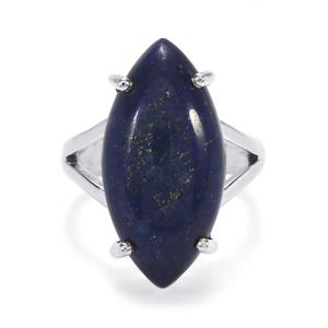 Sar-i-Sang Lapis Lazuli Ring in Sterling Silver 15cts
