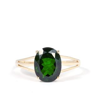2.77ct Chrome Diopside 9K Gold Ring