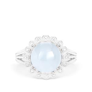 Aquamarine Ring in Sterling Silver 4.30cts