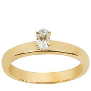 Pedra Azul Aquamarine Ring in Gold Vermeil 0.2cts